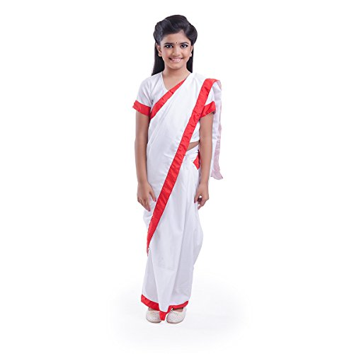 Teacher/Indira Gandhi Fancy Dress Costume for kids (4-6 YRS)