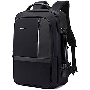 495d7303d6 Xnuoyo 17.3 Pouces Sac à Dos Ordinateur Portable, Extensible TSA Sac à Dos  d'affaires avec Chargeur USB et Port de Casque (Noir)