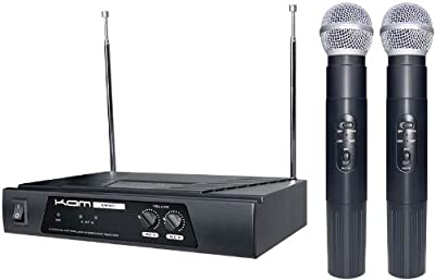 KAM KWM11 Twin Handheld Wireless Microphone System (VHF 174.1/174.5Mhz)