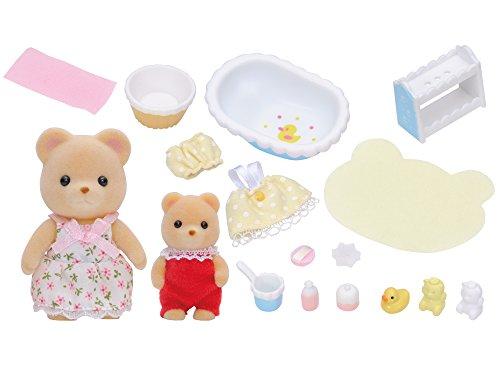 Epoch D'enfance - A1504581 - Mini-poupée - Bain De Bébé Ours sylvanian