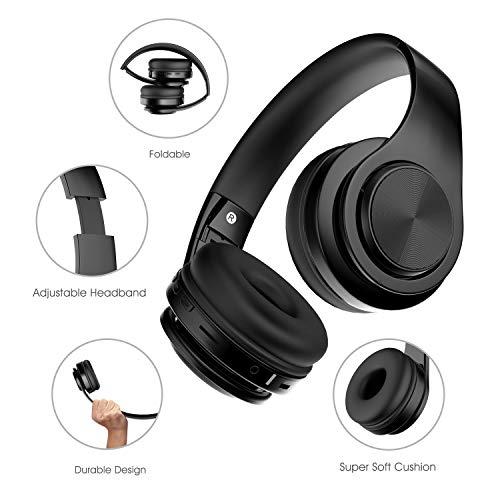 0305539b5459ad Alitoo Cuffie Bluetooth Senza Fili,Wireless Cuffia con Microfono Stereo  Pieghevole Auricolare Over Ear Headphone con Cancellazione del rumore per  Smartphone ...