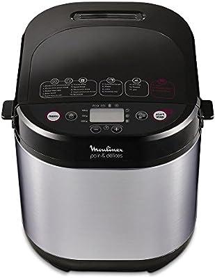 Moulinex Pain & Delices máquina para el pan ow240e 1000gr, 3niveles de dorar, 17programas
