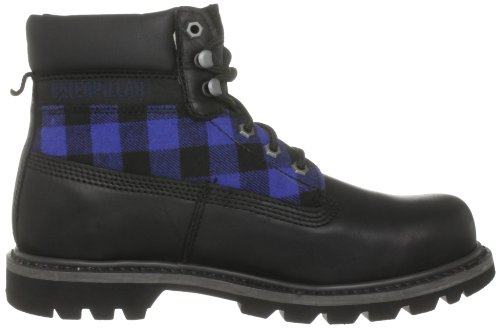 Caterpillar - P710652 - Colorado - Bottes Courtes  - Homme Noir (Black Credos / Black & Blue Plaid)