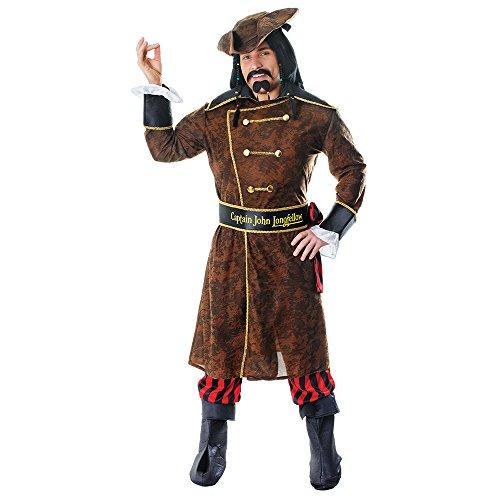 3Captain John Longfellow Kostüm, Mittel (Captain Planet Halloween Kostüm)