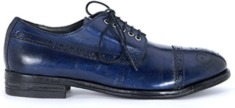MOMA Chaussures metalliseé en Cuir Noir et Bleu metalliseé Chaussures abgetöntB00LXM39UMParent 693509