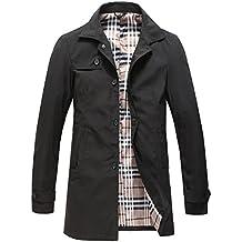 deee8ec9f624 Pinkpum Homme Trench Coat Classique Manteau Coupe-Vent Printemps Mince  Veste Blousons Leger Jacket