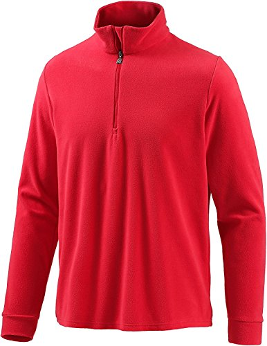 Medico Herren Ski Shirt, Fleece, Langarm, Reißverschluss(Rot, 56)