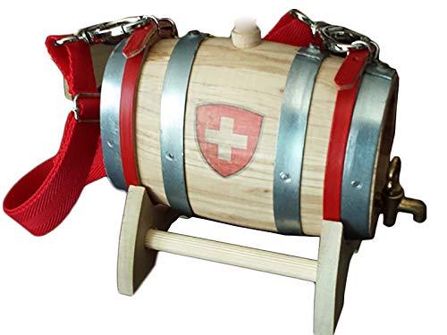 Fass Wein San Bernardo 0,5Liter Kreuz Schweiz Wasserhahn Messing
