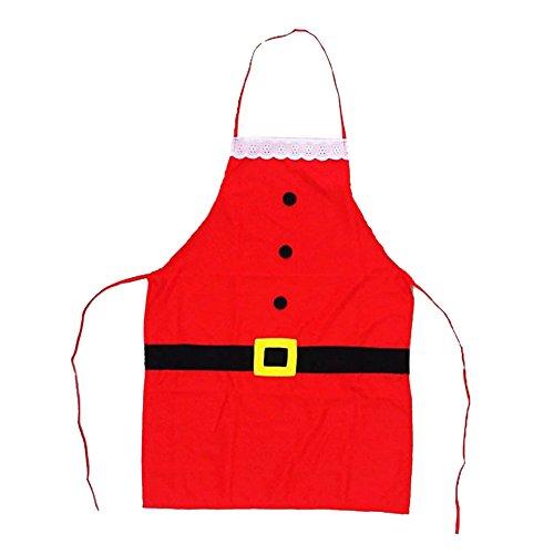 Eizur Weihnachts Schürze Xmas Küchenschürze Kochschürze Kostüm Weihnachtsmann Weihnachten Küche kochen oder Backen Kostümzubehör Weihnachtsschmuck Weihnachtengeschenk
