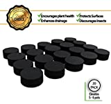 Pot-up Invisible Feet For pots, Containers and Statury, 20 Pack Supports 5-6 Plant Pots | Quality strudy rubber plant pot risers made the perfect size to suite all size pots