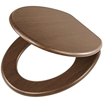 Tiger Douglas Toilet Seat With Slow Close Mechanism, Walnut Wood, 43 X 37.5  X 5 Cm