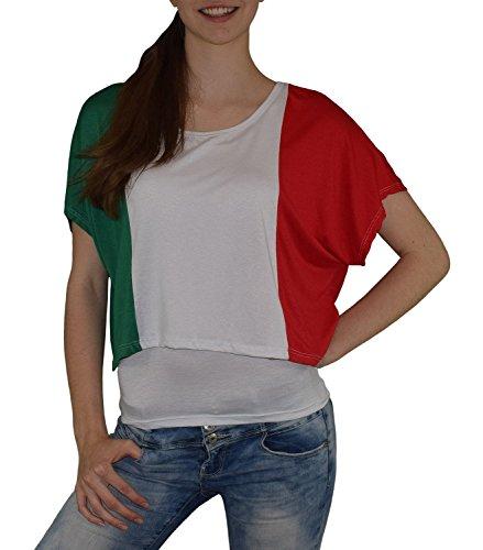 S&LU super Angesagtes 2-teiliges Fan - Flag - Top Deutschland Italien Frankreich England Spanien USA Größe 34-40 (XS-L) (one Size, Italien-weiß)
