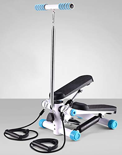 TKLLOVE LED Stepper,Indoor Stepper für Heimtrainer Professioneller Stepper mit Kordelzug Trainingsbänder Heimtrainer-Multifunktions-LED (blau)