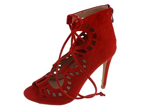 Lala-Scarpa ribelle corde per donne Rosso (rosso)