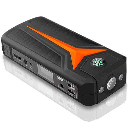 k 15000mAh Car Jumper, 12V Battery Booster, tragbares Jump Pack mit Schnellladung, 4 LED-Lichtmodi, LCD-Bildschirm, USB-Ausgänge ()