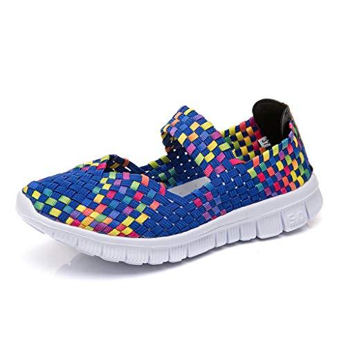 t atmungsaktiv Gummiband EIN Pedal Turnschuhe Freizeitschuhe Laufschuhe der Frauen Student Jogging-Schuhe fliegen gewebte Schuhe Kissen Turnschuhe Fitness-Schuhe ()