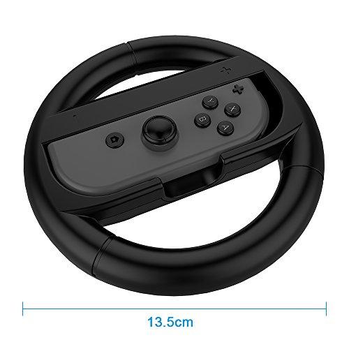 2 pacchi volante racing wheel per nintendo switch mario kart 8 mothca nintendo switch joy con. Black Bedroom Furniture Sets. Home Design Ideas