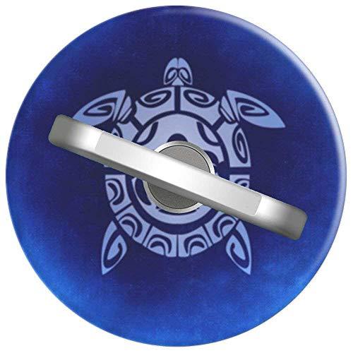RAHJK Telefon Handy Ring Schildkröte Stammes Maske Shell In Blau, 360 Grad drehbar Finger Ring Griff Handy Halter kompatibel mit Smartphones und Tablets 1U1598