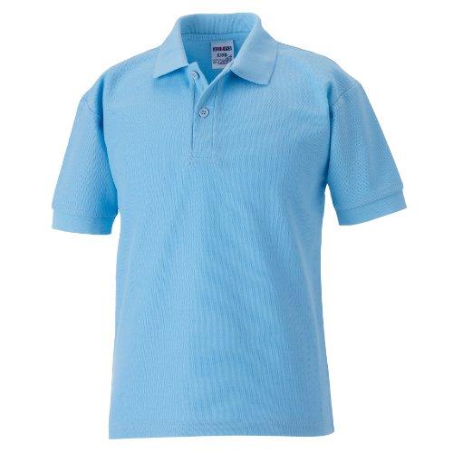 Jerzees Schoolgear Kinder Pikee Polo Shirt Himmelblau