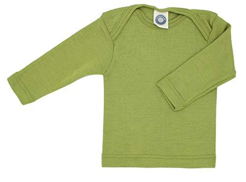 Wolle-unterwäsche Langarm (Cosilana Baby Schlupfhemd, Größe 98/104, Farbe Grün - Wollbody®GmbH)