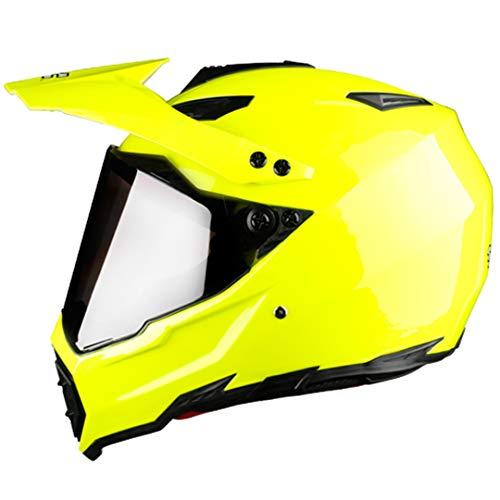 Casco de Motocicleta de Rostro Completo Off Road Motocross Hemet Touring Modular Black Lens 4 XL