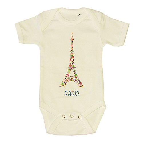 aby Jungen (0-24 Monate) Body weiß weiß Gr. 0-6 Monate, weiß (Paris Baby)