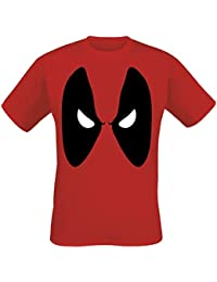 Deadpool Angry Eyes Camiseta Rojo