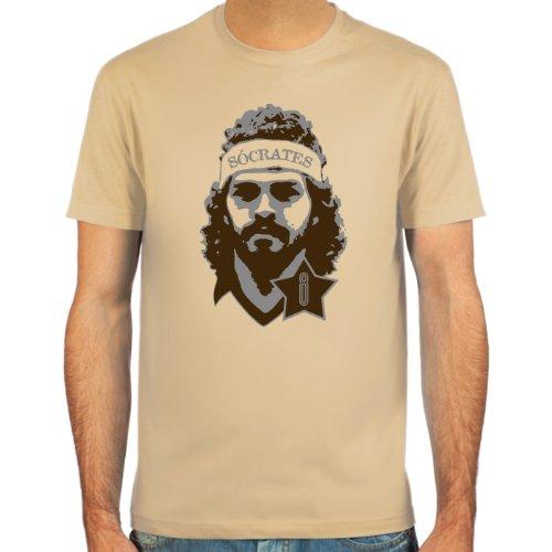 SpielRaum T-Shirt Sócrates ::: Farbauswahl: skyblue, sand oder weiß ::: Größen: S-XXL ::: Fußball-Kult