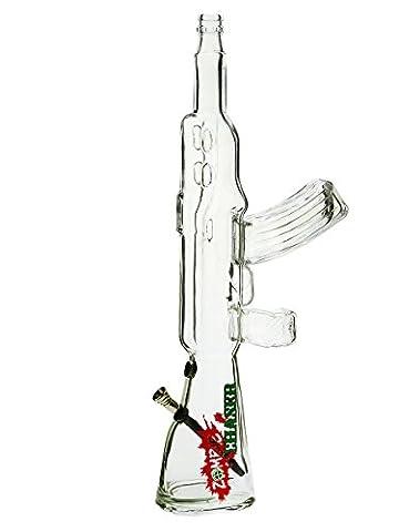 Black Leaf Zombie Chaser Sturmgewehr Glasbong - 50 cm, Alushillum mit Schraubkopf - head&nature Bong-Kollektion