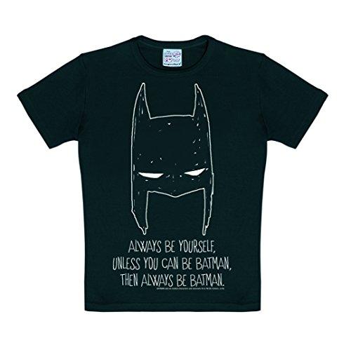 Logoshirt DC Comics - Batman - Always Be Yourself T-Shirt Kinder Jungen - Schwarz - Lizenziertes Originaldesign, Größe 92/98, 2-3 Jahre