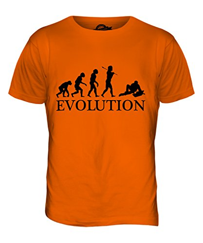 CandyMix Laptop Notebook Evolution Des Menschen Herren T Shirt Orange
