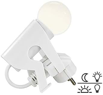 Lunartec Steckerlampe: Originelles LED-Nachtlicht Lustiges Kerlchen mit Dämmerungssensor (Lampe Steckdose)