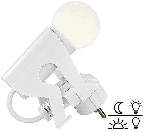 Lunartec Steckdosenlampe: Originelles LED-Nachtlicht 'Lustiges Kerlchen' mit Dämmerungssensor (LED Steckdosen Nachtlichter mit Sensoren)