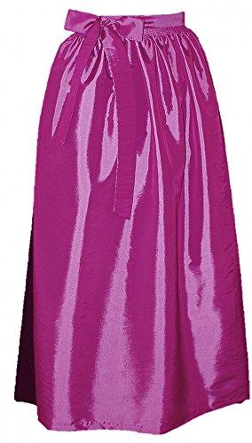 Schürze für Dirndl Trachtenkleid Dirndlkleid Dirndlschürze festliche Taftschürze Trachten Mode Trachtenmode einfärbig grün pink rot rosa leichter Glanz apron, Farbe:pink, Größe:S/M = 34 36 38