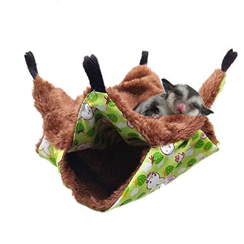 Warm Pet Cage Hängematte, Bunkbed Sugar Glider Bettwäsche für Kleintiere (Hängematte Pet Cage)