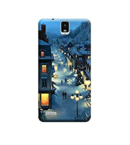 Ebby Premium Printed Back Case Cover With Full protection For InFocus M330 (Designer Case)