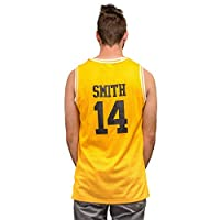 Costume Agent Adult Bel Air Basketball Jersey Banks #25 Smith #14 Gold/Yellow