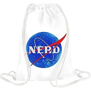 Nasa Funny Logo Nerd Drawstring bag