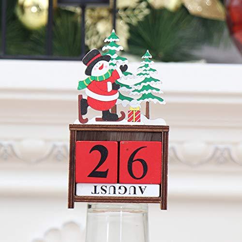 Calendario di Natale Decorazione Bagattelle Ornamenti Decorativi per Decorazioni Natalizie Natale Decor Addobbi Personalizzate Decorazione Dell'Albero di Natale di Regalo Partico