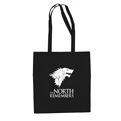 Planet Nerd GoT: The North Remembers - Stofftasche/Beutel, Farbe: schwarz