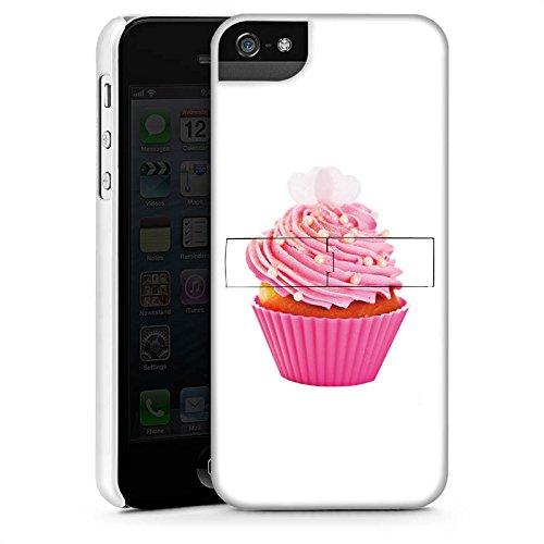 Apple iPhone 5s Housse Étui Protection Coque Muffin Gâteau Cake CasStandup blanc