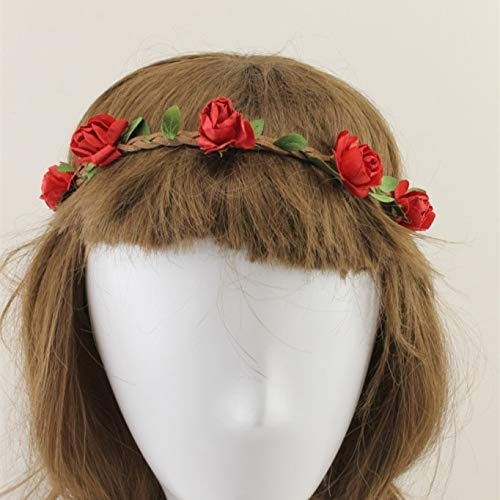 de Sommer Böhmen Strand Blume Haarschmuck Haarbänder Stirnbänder Für Frauen Mädchen Party Hochzeit Haar Kränze Headwear11 ()