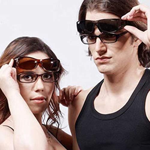 Yaoaomon Motorradbrille Nachtsichtbrille Schutz Fahrer Outdoor Sonnenbrille Gelb Low Light Night Vision Pc