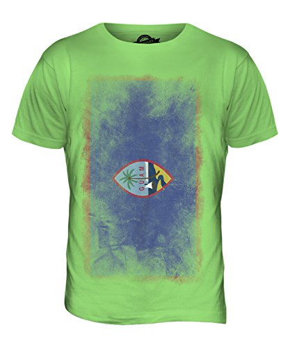 CandyMix Guam Verblichen Flagge Herren T Shirt Limettengrün