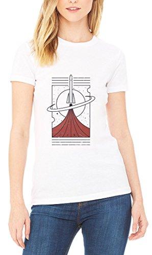 Space Minimalistic Poster Women's T-shirt Blanc