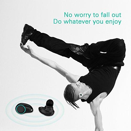 Holyhigh Bluetooth Kopfhörer Bluetooth Headset V5.0 Stereo-Minikopfhörer Sport IPX6 Wasserdicht Kopfhörer in Ear mit Ladekästchen und Integriertem Mikrofon für iPhone Android Samsung iPad Huawei HTC - 6