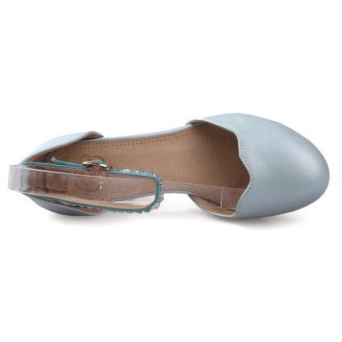 Balamasa da donna, con tacco basso, suola con motivo scarpe LightBlue