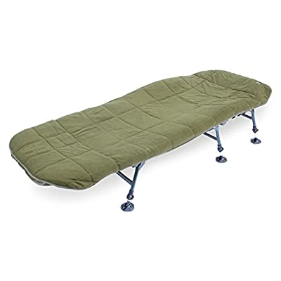 ABODE Hollow Fill Quilted Fleece Bedchair Mattress Topper Carp Fishing Bed Cover from ABODE