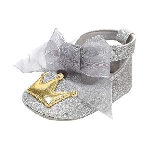 Alwayswin Baby Mädchen Bowknot Erste Wanderer Kind Schuhe Mode Süß Prinzessin Schuhe Weicher Boden rutschfest Kleinkindschuhe Babyschuhe Bequem Freizeit Netzband Einzelne Schuhe