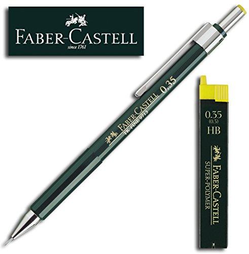 Preisvergleich Produktbild Faber-Castell SUPER-POLYMER Feinminen Etui (1 Dose + Stift, 0,35 HB)